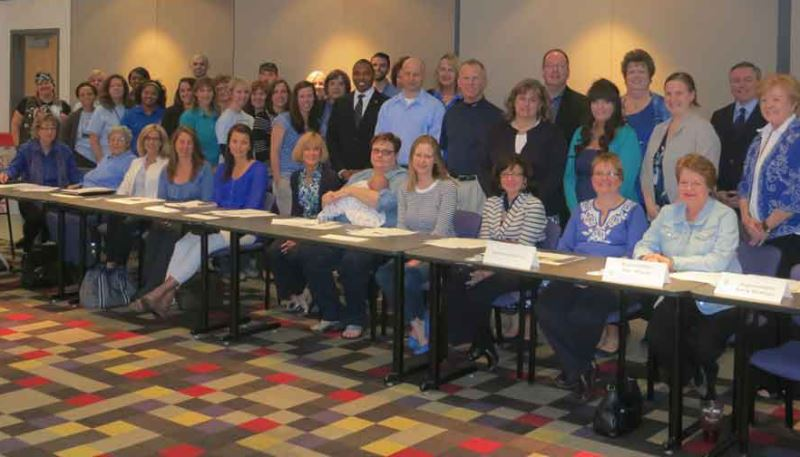 Child Abuse Roundtable Coalition on Wear Blue Day in support of Child Abuse Prevention.